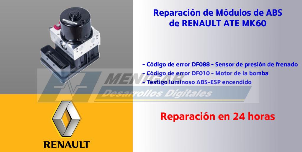 REPARACIÓN ABS RENAULT ATE MK60