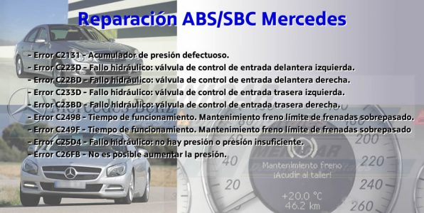 reparación fallos SBC ABS Mercedes