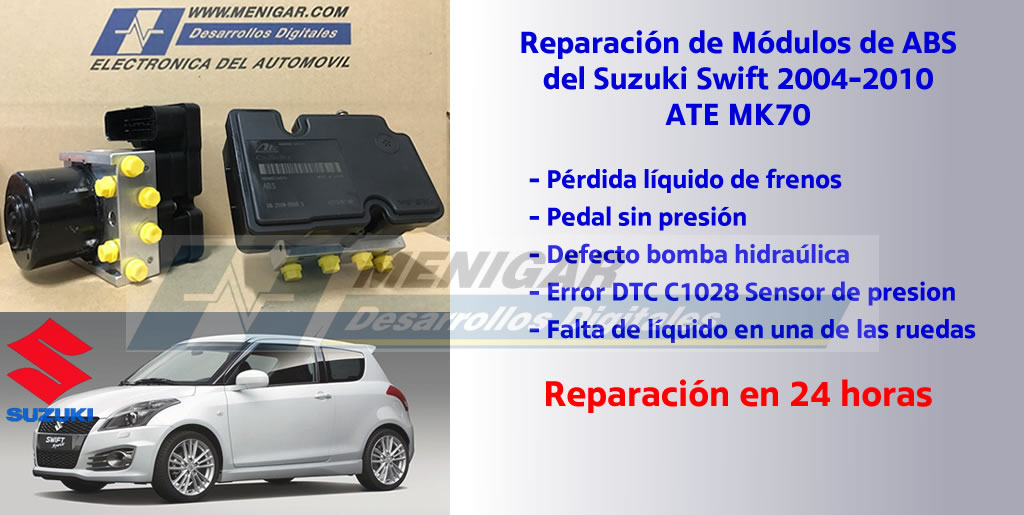 reparación abs suzuki swift