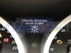 reparacion display cuadro mercedes slk r171