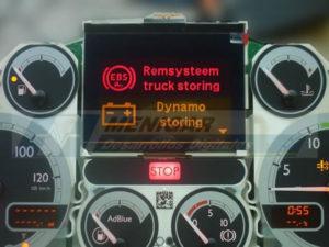 reparación display cuadro de instrumenos DAF