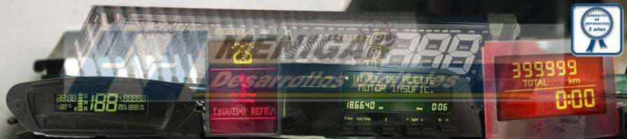 reparación display pantalla lcd cuadro de instrumentos