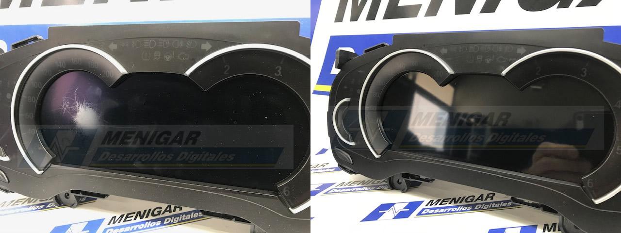 Reparación arañazos cuadro digital BMW