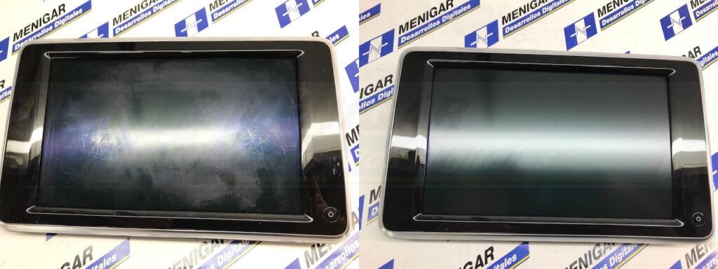 reparación pantalla reposacabezas bmw